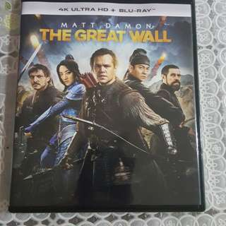 The Great Wall - 4K Blu-ray Disc