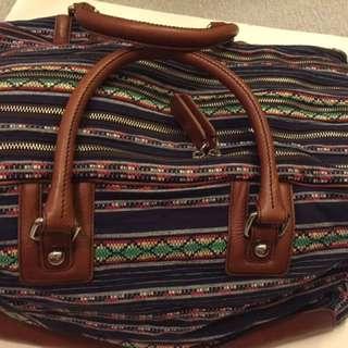 D&G Lily Bag.  Pattern cotton fabric Cow hide trim. W:48cm H30cm