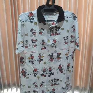 Mickey♡Minnie Men Polo