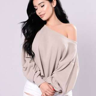 FashionNova Spotless Mind Top - Beige