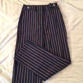 Zara stripe wide pants size xs