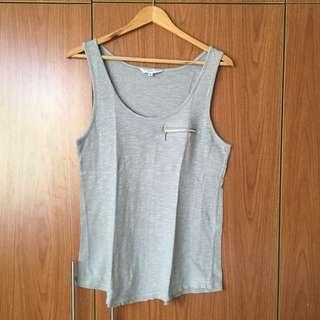 Grey Sleeveless Top (M)