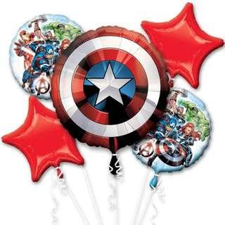 Captain America helium balloons
