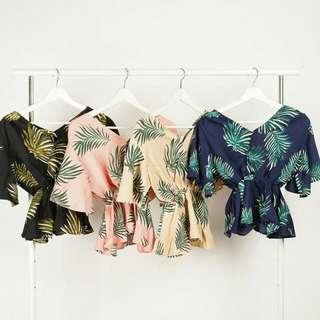 Palm Flower Blouse
