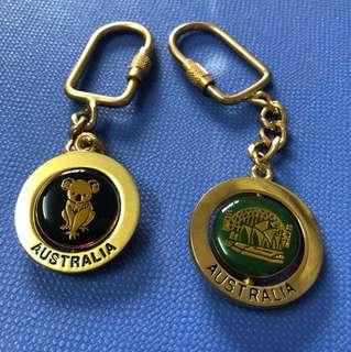 2pcs vintage Australia keychain
