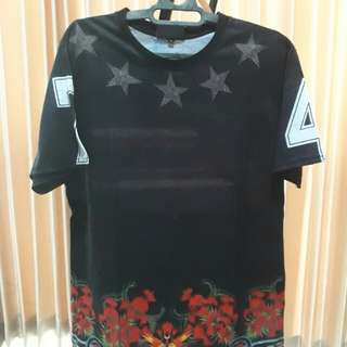 Givenchy Copy US Flag Floral T-Shirt