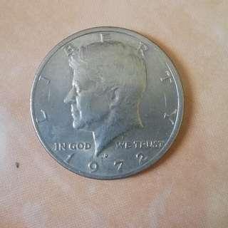 1972 USA 50cts coin