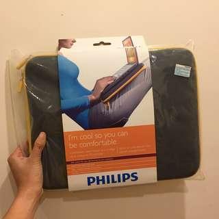 """100%全新 Philips 12.1"""" 深灰橙鍊隔熱電腦套"""