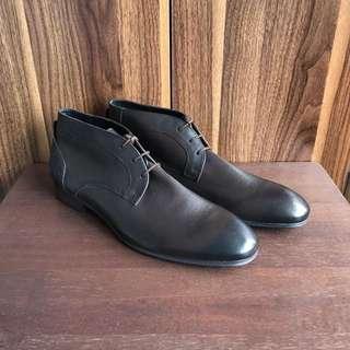 Hudson Chukkas Desert Boots Leather Shoes For Men