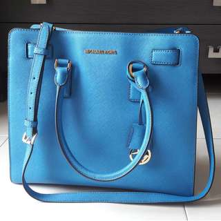 MK leather cross shoulder bag
