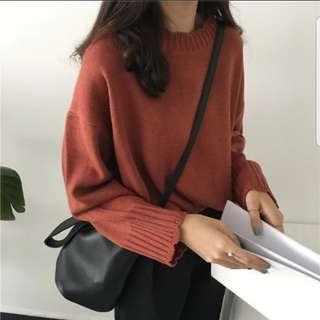 韓國花邊領毛衣