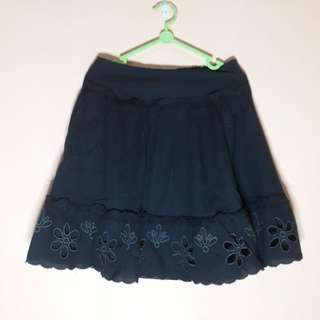 A-Line Skirt Woman in Black