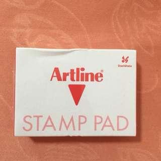 Artline stamp pad (red)
