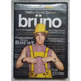 Brüno DVD (starring the famous funny Sacha Baron Cohen as Bruno) (USA Region 1  DVD)