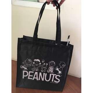 Peanuts EcoBag (black)