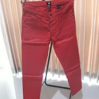H&M Red Skinny Chinos