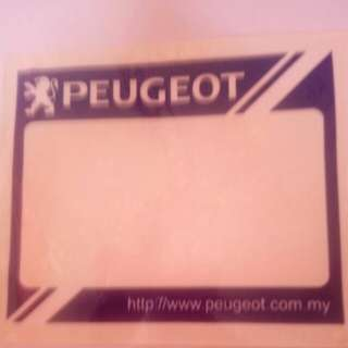 Peugeot Roadtax Sticker
