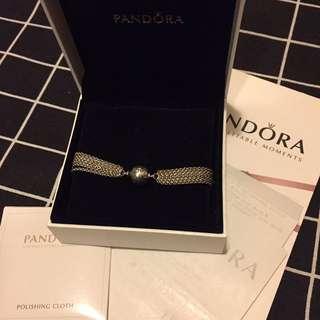 Pandora 純銀 手鏈 Bracelet 連 固定扣 Clips 一套 連盒 有單