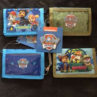 Paw Patrol 2 folded wallets for kids