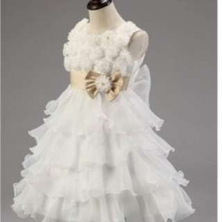 White Gown flower girl dress