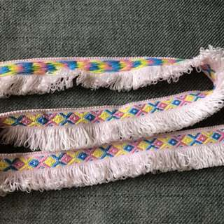 Exclusive laces one of its kind. By mail per meter $5.00