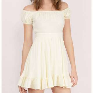 TOBI Camillia Skater Dress in Cream