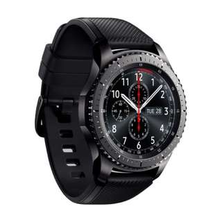 Samsung gear s3 frontier with leather and metal strap & original strap with samsung warranty