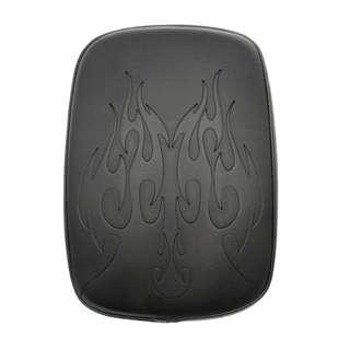 Harley Davidson seat pillion designed cross skull flame fire