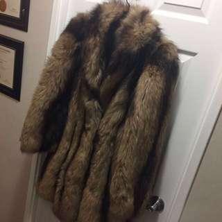 Real Racoon Fur Coat