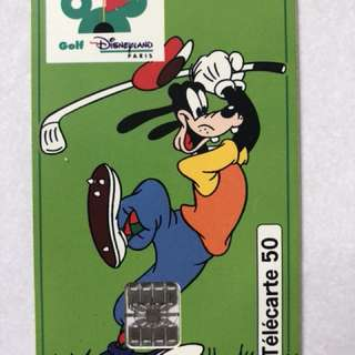 France Telecom call card (to commensurate opening of Paris Disneyland Golf Course in 1992)