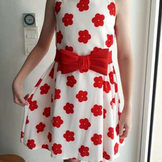Red Flower Dress