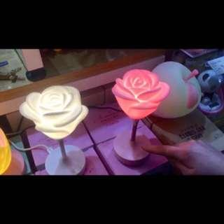 玫瑰花小夜燈