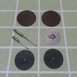 universal cutting disc and holder set 7 piece include diamond synthetic carbon fibre discs
