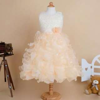 Champagne Rose Wedding Girls Dress Kids