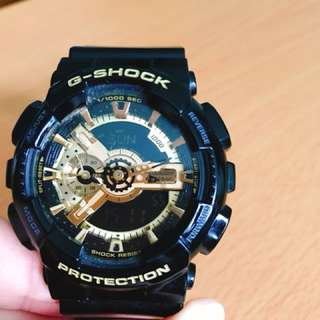 G-shock 黑錶金面