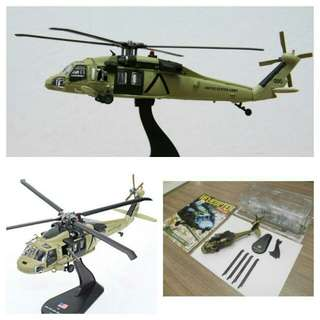 Military aircraft helicopter for souvenir or hobby or education - UH-60 Black Hawk