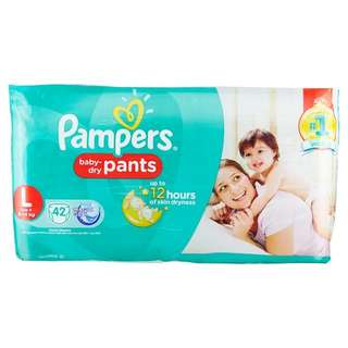 Pampers Baby Dry Diapers pants L 42s