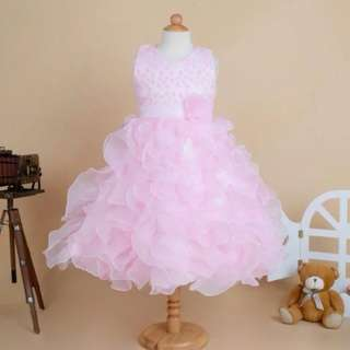 Sweet Pink Rose Wedding Girls Dress