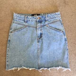 dotti denim skirt