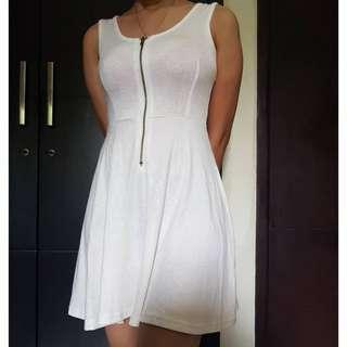 White Ziper Dress
