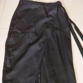 Nice black wrap skirt