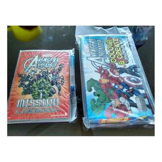 Marvels avengers booklet ( mission logbook) & adventure kit