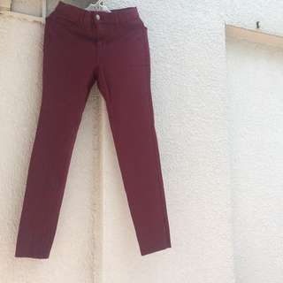 FOREVER21 Maroon Jeans
