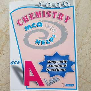 (50% off) A-level Chemistry MCQ with Helps