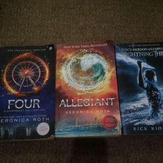 Novel Allegiant, FOUR & Percy jackson