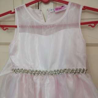 Baby pink color party Frock