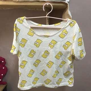 Bart Simpson Crop Top