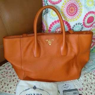 Prada Vitello Daino Shopping Satchel Shoulder Bag