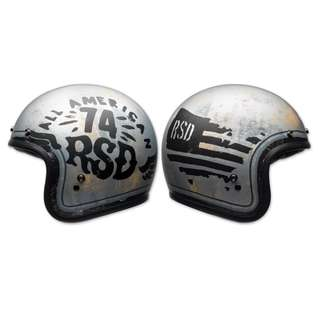 Bell Custom 500 SIZE Medium ONLY M Adult Open face Street Helmet Cafe Racer Motorbike Motorcycle Helmet RSD 74 Limited Edition (D.O.T.-Certified)
