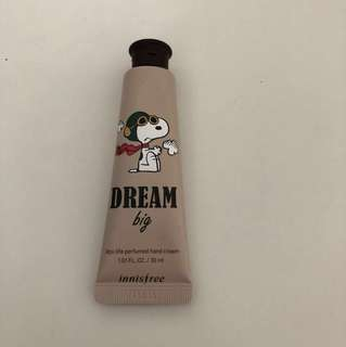 Innisfree x snoopy hand cream - brown